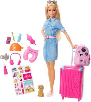 Barbie Reise Puppe (blond) und Zubehör, Barbie