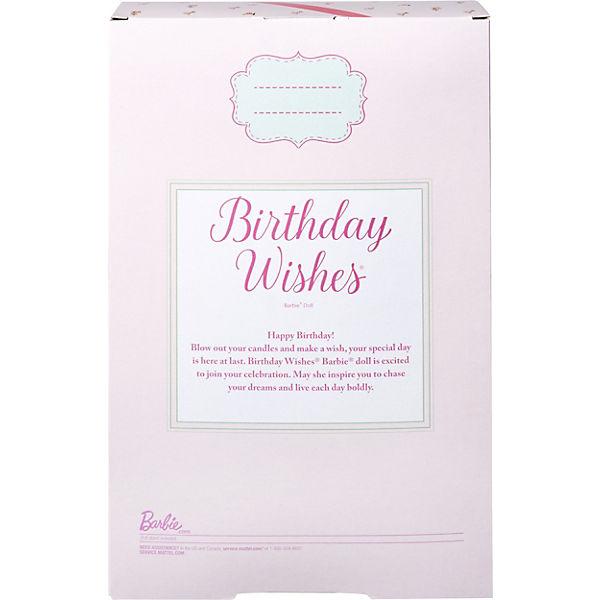 Кукла Barbie Пожелания ко дню рождения
