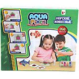 """Набор для творчества 1Toy """"Aqua pixels"""" Морские животные, 350 пикселей"""