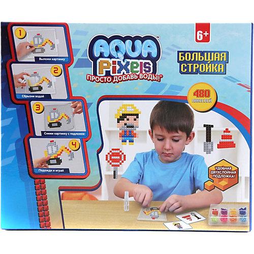 """Набор для творчества 1Toy """"Aqua pixels"""" Большая стройка, 480 пикселей от 1Toy"""