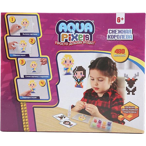 """Набор для творчества 1Toy """"Aqua pixels"""" Снежная королева, 480 пикселей"""