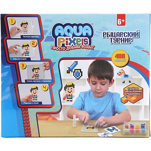 "Набор для творчества 1Toy ""Aqua pixels"" Рыцарский туринир, 480 пикселей от 1Toy"