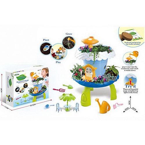 """Игровой набор Junfa Toys """"Коттедж для кукол"""", свет/звук, синий от Junfa Toys"""