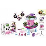 """Игровой набор Junfa Toys """"Коттедж для кукол"""", свет/звук, розовый"""
