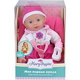 """Кукла-пупс Mary Poppins """"Милый болтун"""" Полли в автокресле, 33 см, озвученная"""