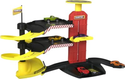 "Многоуровневая парковка-трек HTI ""Teamsters"", с 5-ю машинками"
