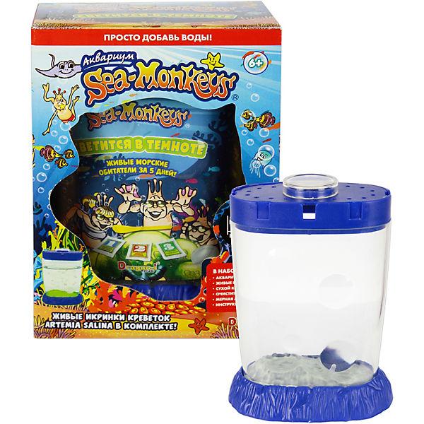 """Аквариум """"Sea-Monkeys"""" светящийся в темноте для выращивания ракообразных вида Artemia Salina"""