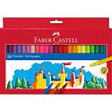 Фломастеры Faber-Castell, 50 цветов, смываемые