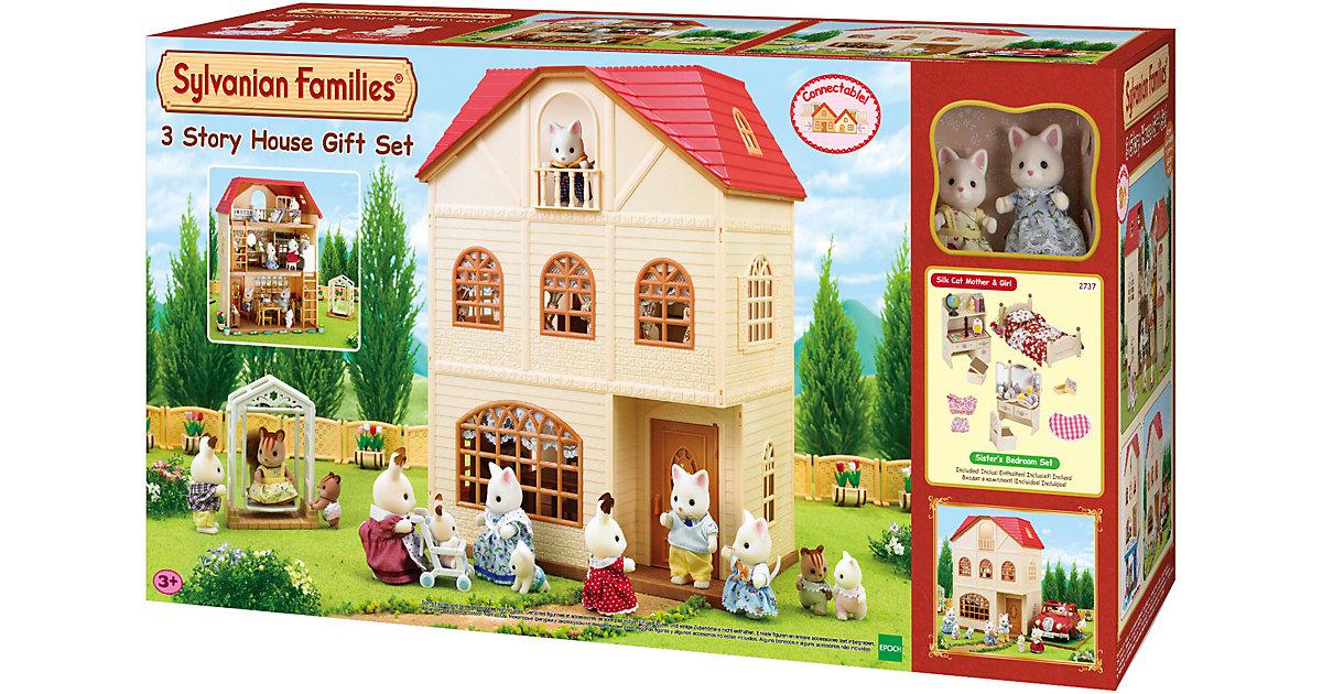 Sylvanian Families · Sylvanian Families® Dreistöckiges Haus - Coco und Tessi Seidenthal - Geschenk-Set