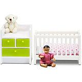 Мебель для домика Lundby Кровать с пеленальным комодом