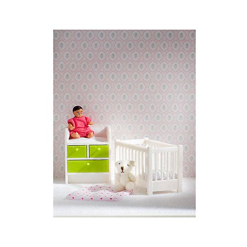 Мебель для домика Lundby Кровать с пеленальным комодом от Lundby