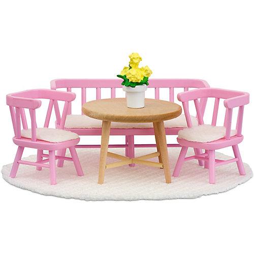 """Мебель для домика Lundby """"Смоланд"""" Обеденный уголок, розовый от Lundby"""