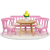 """Мебель для домика Lundby """"Смоланд"""" Обеденный уголок, розовый"""