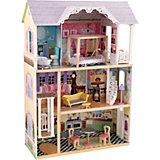 """Трехэтажный дом из дерева для Барби KidKraft """"Кайли"""" с мебелью"""