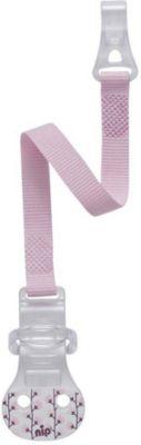Nipp Schnullerband für Schnuller ohne Ring  in rosa