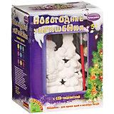 """Набор для творчества Bondibon """"Новогодние украшения"""" Дед Мороз с подсветкой LED"""