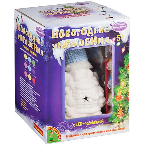 """Набор для творчества Bondibon """"Новогодние украшения"""" Снеговик с подсветкой LED от Bondibon"""
