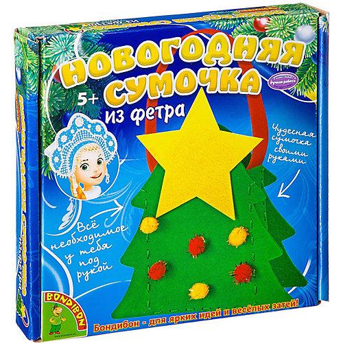 "Набор для творчества Bondibon ""Новогодняя сумочка из фетра."" Ёлочка от Bondibon"