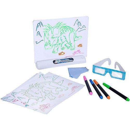 """Обучающая игра Bondibon """"Доска для рисования с 3D эффектом"""" Динозавры от Bondibon"""