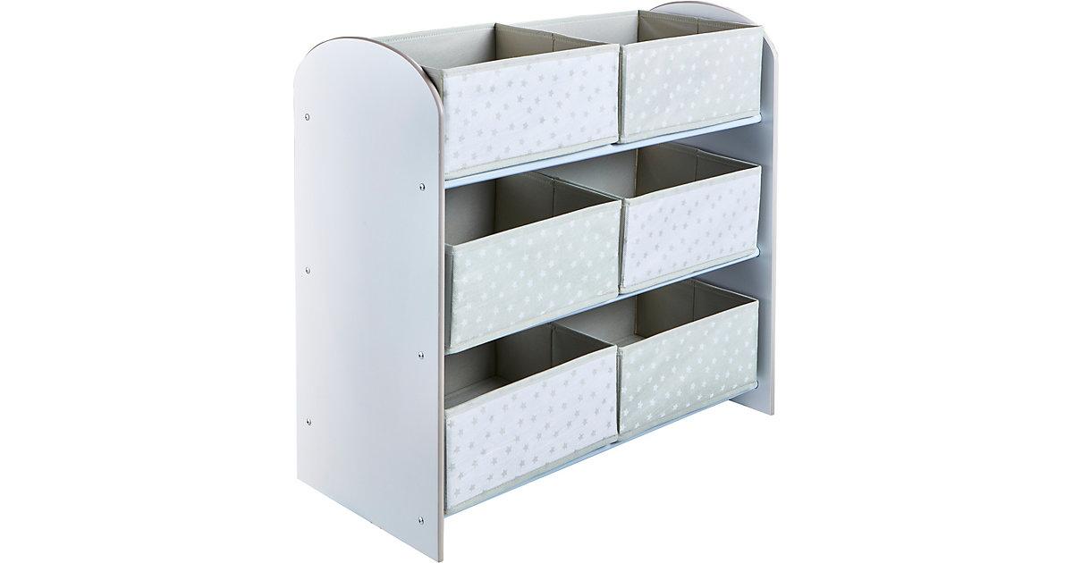 Image of Ablageregal de Luxe mit 6 Schubladen, weiß
