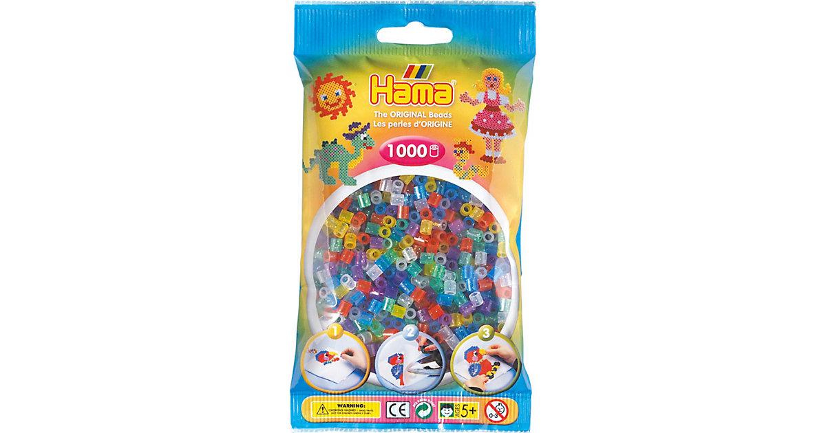 HAMA 207-54 midi-Perlen, 1.000 Stück, Glitter-Mix