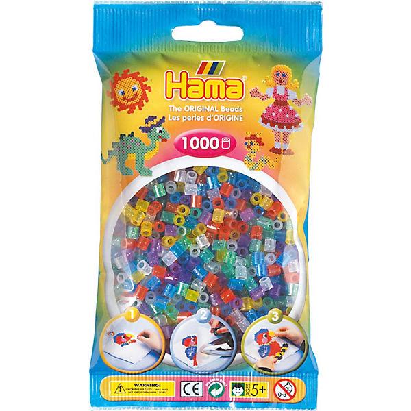 Hama 207 54 Midi Perlen 1000 Stück Glitter Mix Hama Perlen Mytoys