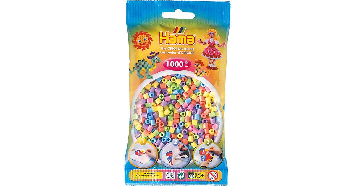 HAMA 207-50 midi-Perlen, 1.000 Stück, Pastell-Mix