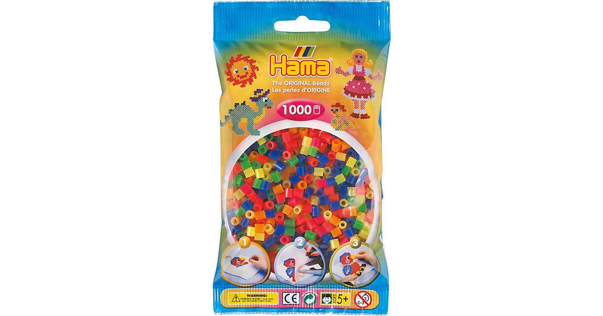 HAMA 207-51 midi-Perlen, 1.000 Stück, Neon-Mix