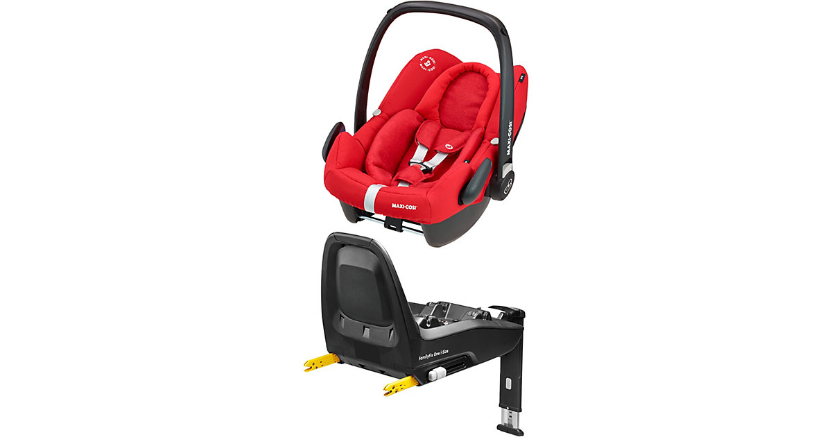Maxi-Cosi · Babyschale Rock, Nomad Red, inkl. Basis FamilyFix One i-Size Gr. 0-13 kg