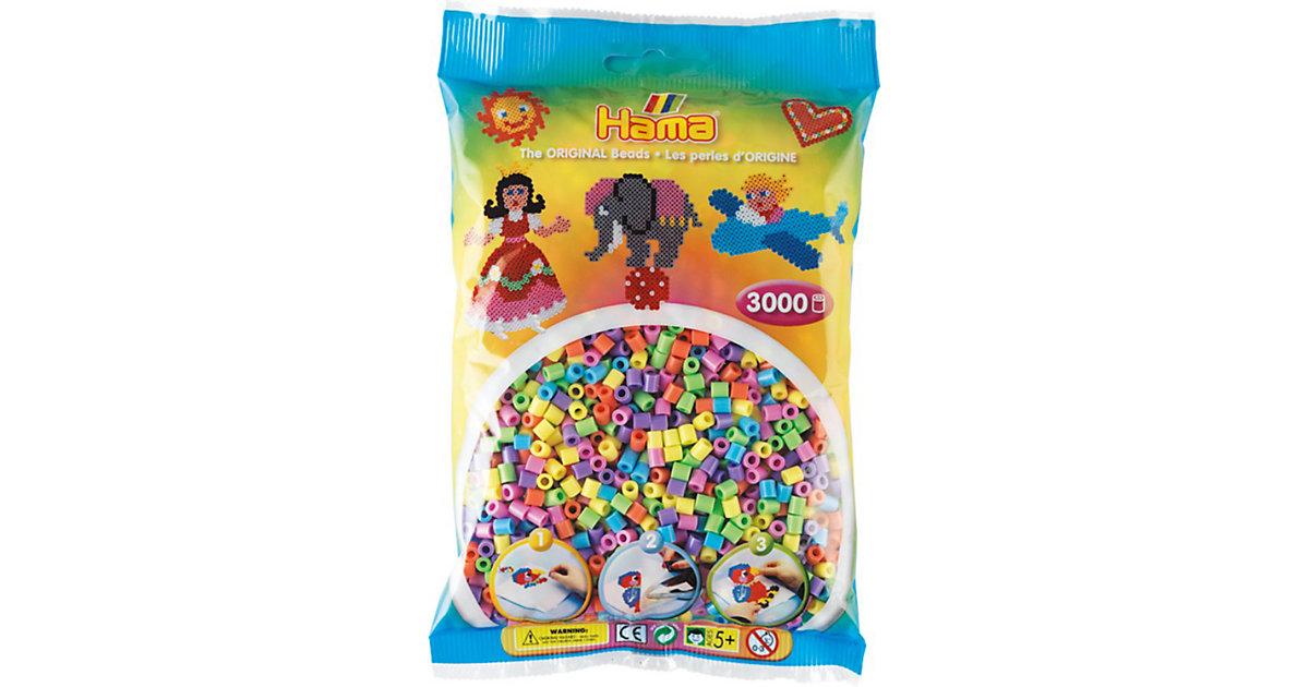 HAMA 201-50 midi-Perlen, 3.000 Stück, Pastell-Mix