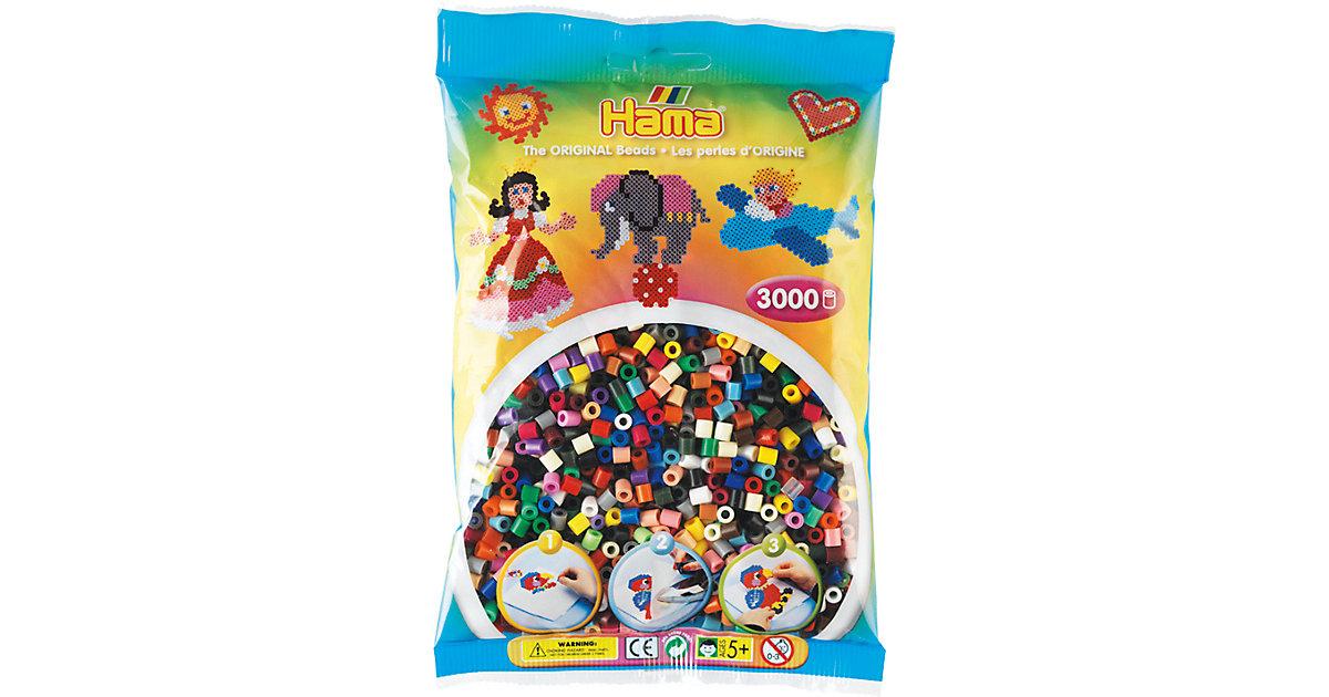 HAMA 201-67 midi-Perlen, 3.000 Stück, 22 Farben-Mix