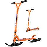 """Трюковый самокат-снегокат Small Rider """"Combo Runner BMX"""" с лыжами и колёсами, оранжевый"""