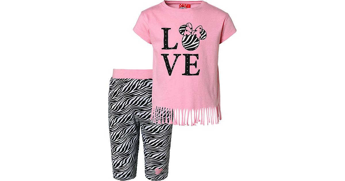 Disney · Disney Minnie Mouse Set T-Shirt + Caprileggings Gr. 110 Mädchen Kleinkinder