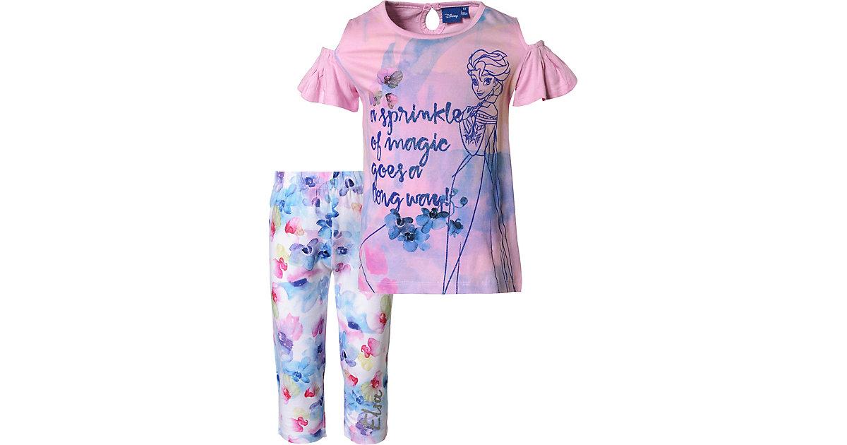 Disney · Disney Die Eiskönigin Set T-Shirt + Caprileggings Gr. 122 Mädchen Kinder