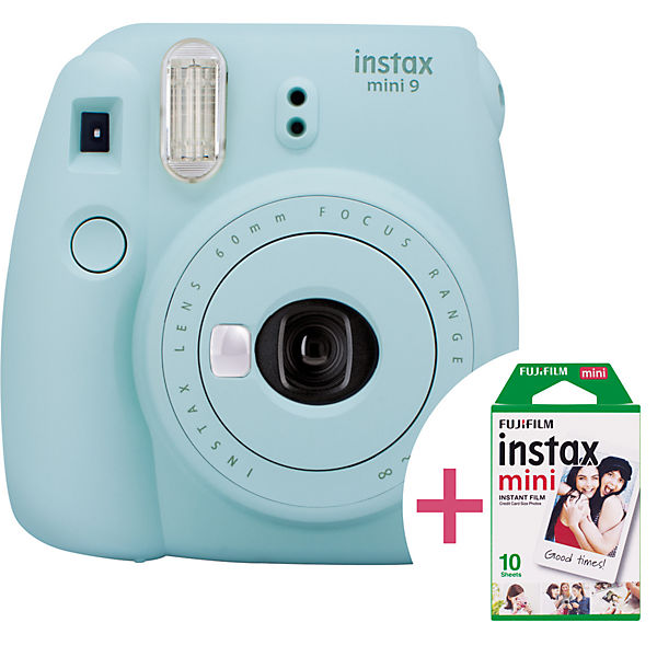 Instax Sofortbildkamera mini 9 eisblau - Set inkl. Film, FUJIFILM