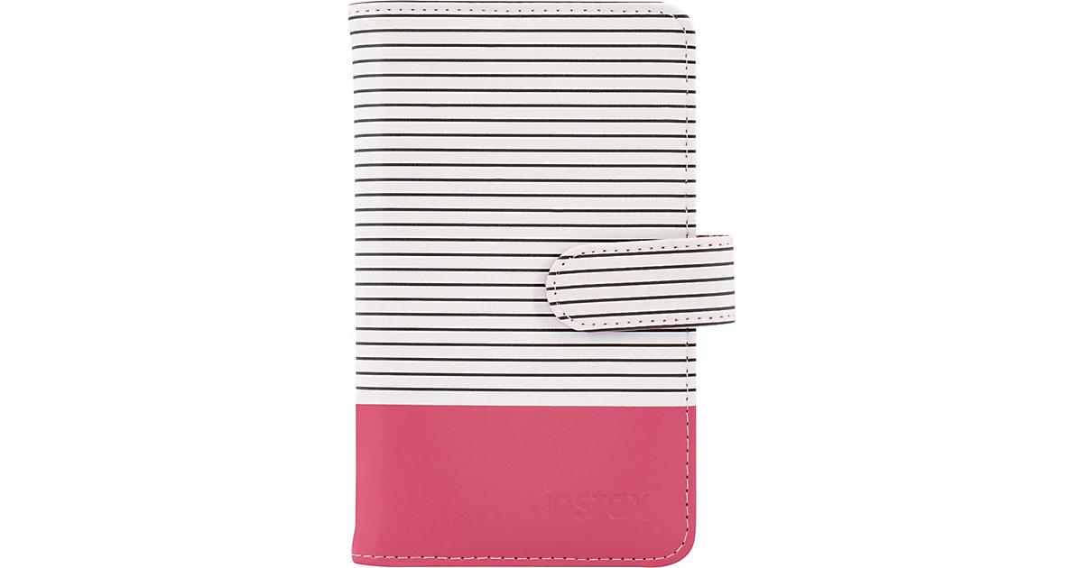 Fujifilm · Instax Mini 9 Striped Fotoalbum flamingo pink 108 Bilder