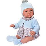 Кукла-реборн Asi Лео в голубом 46 см, арт 183471