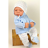 Кукла-реборн Asi Лукас в голубом костюме, 42 см