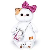 Мягкая игрушка Budi Basa Кошечка Ли-Ли с бантом в пайетках и сумочкой, 24 см