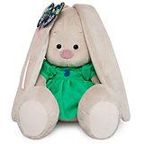 Мягкая игрушка Budi Basa Зайка Ми в зеленом платье с бабочкой, 23 см