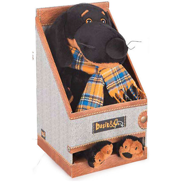 Мягкая игрушка Budi Basa Собака Ваксон в галстуке-бабочке в пайетках, 25 см