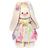 Мягкая игрушка Budi Basa Зайка Ми в летнем платье с бабочками на ушках, 32 см