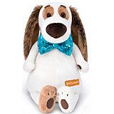 Мягкая игрушка Budi Basa Собака Бартоломей в галстуке-бабочке в пайетках, 27 см