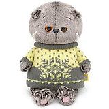 Мягкая игрушка Budi Basa Кот Басик Baby в свитере, 20 см