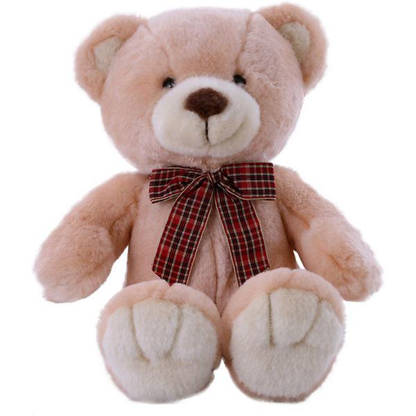 Мягкая игрушка SOFTOY Медведь 32 см, персиковый