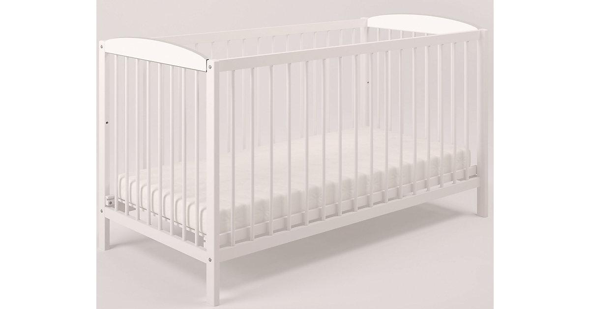 Kinderbett Simple 101 aus Birkenholz, weiß ,3022-04