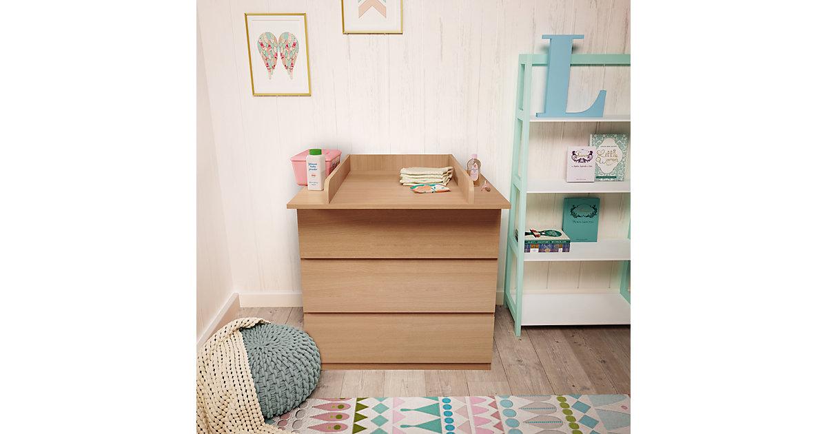Polini-Kids · Wickelaufsatz Kommode MALM IKEA aus Holz, Buche, 3041-01 Kinder