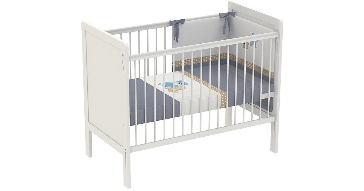 Kinderbett Simple 220, 120 x 60 cm, weiß, 3037-04