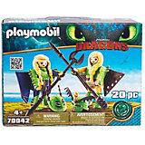 """Игровой набор Playmobil Dragons """"Забияка и Задирака"""""""