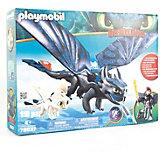 """Игровой набор Playmobil Dragons """"Иккинг и Беззубик"""" (с подсветкой)"""